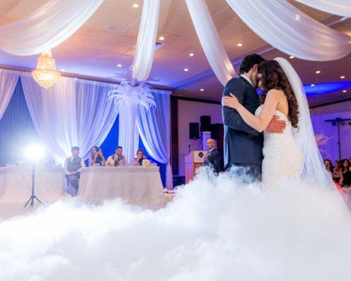 wedding dry ice